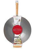 NEW Ken Hom Carbon Steel 35cm Wok