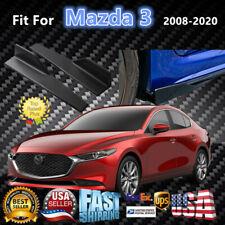 Fits Mazda 3 2008-2020 Black Side Skirts Splitter Spoiler Diffuser Wing