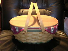 Longaberger 2004 Get Together Basket Combo with Lid and Insert / Mint & Signed