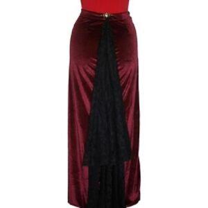 Ladies Phaze Gothic Steampunk Black Morbid All Velvet Bustle Skirt Size 12