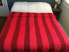 "Handmade Alpaca Blanket - Pink and Red, Full/Queen90"" x 70"""