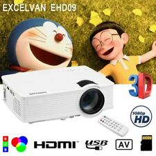 3000LM Mini LED Projecteur 1080P HD Multimedia Cinéma Rétroprojecteur HDMI USB