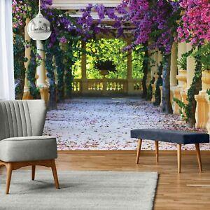 Vlies Fototapete PERGOLA Natur 3D EFFEKT Garten Laubengang Pflanzen Modern 83