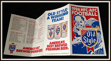1986 NFL NATIONAL FOOTBALL LEAGUE NFC AFC OLD STYLE BEER POCKET SCHEDULE