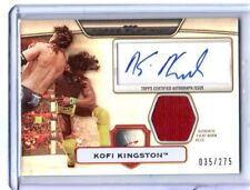 WWE Kofi Kingston Topps Platinum 2010 Silver Autograph Relic Card SN 35 of 275