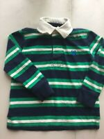 Chaps Boys Striped Polo Henley long Sleeves T shirt green 3 t