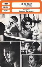 FICHE CINEMA : LE SILENCE - Thulin,Lindblom,Bergman 1964 Tystnaden/The Silence
