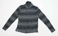 Esmara Womens Size 12 Fleece Blend Geometric Black Jacket