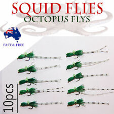 10x Squid Shrimp Bugs Fly Fishing Freshwater Crab Craw Prawn Lures BASS BREAM