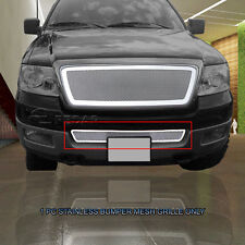 Stainless Steel Mesh Bumper Grille Grill Insert For Ford F-150 F150 04-05