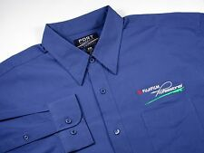 FUJI FILM Professional Photographer  - Men's XL Embroidered Dress Shirt  - BLUE