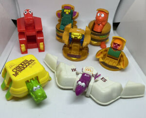 Vintage 1990 McDonalds Happy Meal Changeables McDino Transformers Toys Lot Of 7