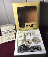 Vintage 50s Wahl HOME VIBRATOR Massager box 4 Attachments VERY NICE Instruction