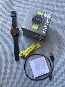 Garmin Fenix 5 Multisport Running Watch, One Size - Slate Gray/Black Extra Band