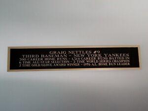 Graig Nettles Yankees Nameplate For A Baseball Bat Or A Jersey Case 1.5 X 8
