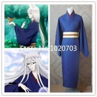 Kamisama Kiss love Kamisama Hajimemashita Tomoe Blue kimono Cosplay Costume F008