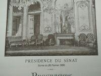 Raro Programa Presidencia de La Senado 1895