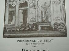 Raro programa altavoz del senado 1895
