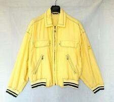 VERSACE SPORT mens jacket bomber yellow black light vintage coat 50 L GIANNI