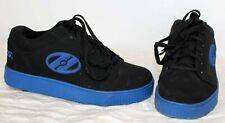 Heelys Wheeled Shoes Sneaker Black/Blue Boys Kids Sz 4 Youth