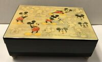 """Linden Disney Mickey Mouse Wood Music Box plays """"The Entertainer"""" New"""