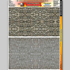 Stone Wall Slot Car Track Model Building Graphic Layout Details
