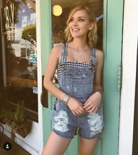 Last one! LF carmar blue distressed relax fit denim overalls NWT sz M $ 238