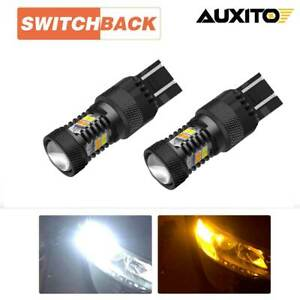 2x Switchback 7443 LED Turn Signal Lights for Chevrolet Silverado 1500 2014-2018