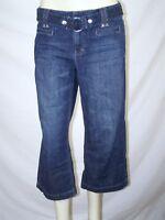 White House Black Market Blue Blanc Denim Crop Capri Jeans Womens Size 4 Small