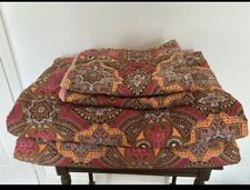 2 Twin Bed Quilt Boho Pink Reversible Bedding  Paisley Vintage Blue Cotton Girls