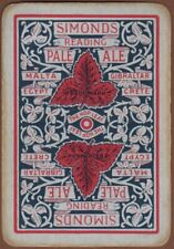 Playing Cards 1 Swap Card Vintage Wide SIMONDS Brewery PALE ALE BEER Malta Crete