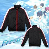 Free! Iwatobi Swim Club Rin Matsuoka Jacket Coat Cosplay Costume Sportswear