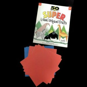Vintage 1998 50 Nifty Super Animal Origami Crafts Book with 15 Starter Sheets