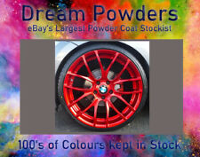 CANDY APPLE RED LACQUER & Silver Chrome & white primer Deal Powder Coat Coating