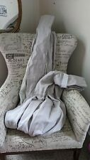Restoration Hardware Linen Curtain Mist Gray French Pleat Lined 50X96 Long NWOT