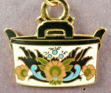 1998 Ladies Handbag Decorative Arts Collection Commemorative Charm Cream Blk Gld