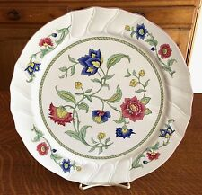 """VILLEROY AND BOCH CHINA PERSIA PATTERN LARGE 13""""  ROUND SERVING PLATTER"""
