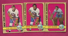 1972-73 OPC ISLANDERS MILLER RC + GERRY DESJARDINS + BROWN  CARD (INV# A6945)