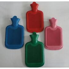 zwei x 1 L Wärmflasche- Wärmeflasche aus Naturgummi verschiedene Farben.