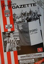 Programme anglo Italian Cup 24.11.1992 Brentford-Lucchese