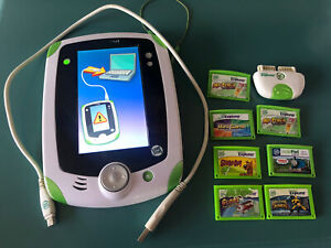 LeapFrog LeapPad Tablet Bundle Lot w/ 7 Games, USB Cable Stylus And Camera