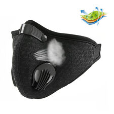 Activated Carbon Filtration Dust Face Mask Dustproof Respirator Half Face Black