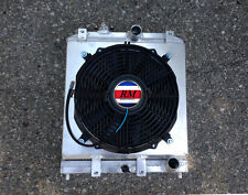 ALUMINUM RADIATOR FOR 1992-2000 HONDA CIVIC EK EG D15/16 M/T 3ROW + SHROUD & FAN