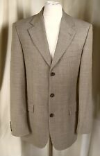 "HUGO BOSS 100% Pure New Wool Green Blue Check Jacket C37""/94cm EXCELLENT COND"