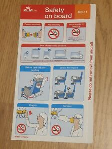 KLM MD-11 Safety card