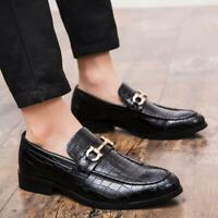 2019 Mens Leather England Shoes British Dress Shoes Casual Slip On Loafers Shoes