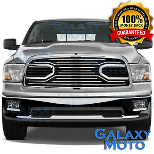 Big Horn Chrome Replacement Grille+Shell for 09-12 Dodge RAM Truck 1500