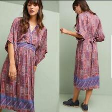 NWT Anthropologie TINY Printed Tie Waist Kimono Midi Dress Size Small