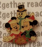 Disney Pin WDW Cast Exclusive Mickey and Minnie with Snowman