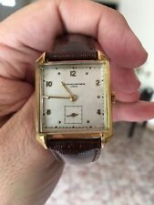 *XMAS SALE* FINE VINTAGE 18K GOLD VACHERON CONSTANTIN MEN'S  W/ FANCY LUGS